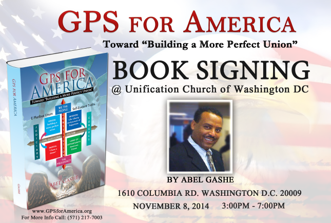 "Book signing: GPS for America: Toward ""Building a More Perfect Union"""
