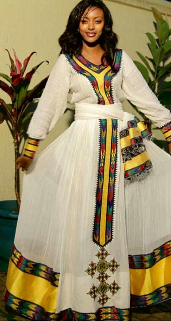 Ethiopian dress habesha kemis for Ethiopian decorating style